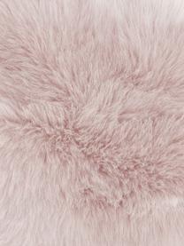 Flauschige Kunstfell-Kissenhülle Mathilde in Rosa, glatt, Vorderseite: 67% Acryl, 33% Polyester, Rückseite: 100% Polyester, Rosa, 40 x 40 cm