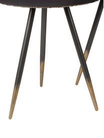Komplet stolików pomocniczych Stalwart, 2 elem., Czarny, złoty, Komplet z różnymi rozmiarami