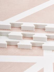 Tappeto da gioco Nordic 18 pz, Schiuma (EVAC), priva di sostanze inquinanti, Rosa, crema, Larg. 120 x Lung. 180 cm