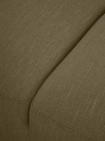 Sofa narożna Melva (4-osobowa), Tapicerka: 100% poliester Dzięki tka, Stelaż: lite drewno sosnowe, cert, Nogi: tworzywo sztuczne, Oliwkowy zielony, S 319 x G 196 cm