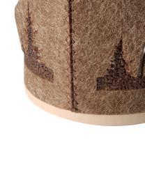 Komplet świeczników Ludwig, 2 elem., Tapicerka: filc, Brązowy, beżowy, Ø 10 x W 14 cm