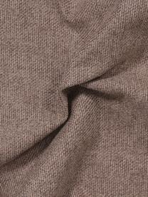Ottomane Fluente in Braun mit Metall-Füßen, Bezug: 100% Polyester 115.000 Sc, Gestell: Massives Kiefernholz, Füße: Metall, pulverbeschichtet, Webstoff Braun, B 202 x T 85 cm