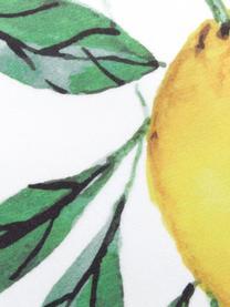 Leichtes Strandtuch Lemon mit Zitronen Print, 55% Polyester, 45% Baumwolle Sehr leichte Qualität, 340 g/m², Weiß, Grün, Gelb, 70 x 150 cm
