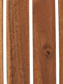 Table pliante plateau en bois Parklife, Blanc, bois d'acacia