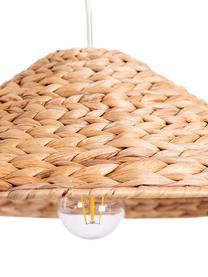 Boho-Pendelleuchte Corb, Lampenschirm: Wasserhyazinthengras, Baldachin: Kunststoff, Wasserhyazinthengras, Ø 45 x H 14 cm