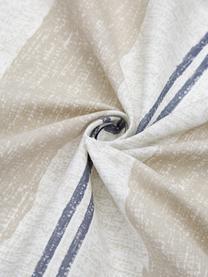 Gestreifte Baumwoll-Bettwäsche Nautic Stripes, Webart: Renforcé Fadendichte 144 , Sandfarben, Beige, Dunkelblau, 155 x 220 cm + 1 Kissen 80 x 80 cm