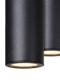 Große dimmbare LED-Pendelleuchte Lorenz in Schwarz, Baldachin: Aluminium, beschichtet, Schwarz, 120 x 50 cm