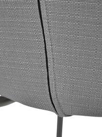 Chaise rembourrée grise Tess, Tissu gris, noir