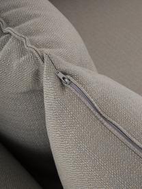 XL-hoekbank Tribeca in donkergrijs, Bekleding: polyester De bekleding is, Frame: massief grenenhout, Poten: massief gelakt beukenhout, Geweven stof donkergrijs, B 405 x D 228 cm