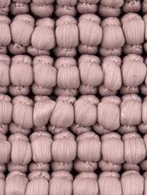 Kissenhülle Iona mit kleinen Stoffkugeln in Altrosa, Vorderseite: 76% Polyester, 24% Baumwo, Rückseite: Baumwolle, Altrosa, 45 x 45 cm