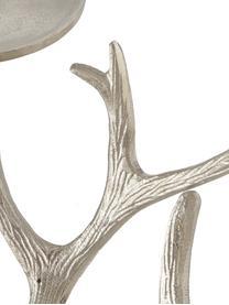 Kerzenhalter Borgfjell, Aluminium, vernickelt, Nickel, 48 x 20 cm