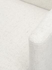 Fotel wypoczynkowy bouclé z drewnianymi nogami Coco, Tapicerka: bouclé (100% poliester) D, Nogi: lite drewno bukowe, lakie, Beżowy, S 92 x G 79 cm