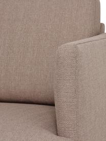 Hoekbank Fluente in taupe met metalen poten, Bekleding: 100% polyester, Frame: massief grenenhout, Geweven stof taupe, B 221 x D 200 cm