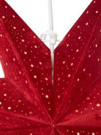 Samt-Weihnachtsstern Orby, Papier, Samt, Rot, Goldfarben, Ø 45 cm