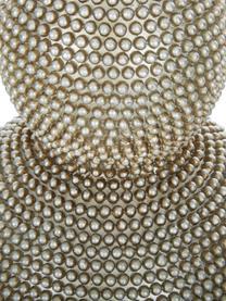 Lampada da tavolo con finitura antica Lofty, Base della lampada: Metallo rivestito, Paralume: poliestere, Bianco, Ø 33 x Alt. 58 cm