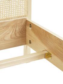 Holzbett Jones mit Wiener Geflecht, Gestell: Sperrholz mit Eschenholzf, Füße: Massives Eschenholz, Braun, 160 x 200 cm