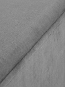 Fluwelen bank Harper, Bekleding: katoenfluweel, Voet: gepoedercoat metaal, Bekleding: donkergrijs. Voet: mat zwart, 140 x 45 cm