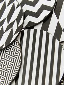 Onderzetter set Black and White, 6-delig., Bekleed kurk, Zwart, wit, Ø 10 cm