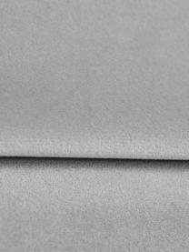 Divano letto 3 posti in velluto grigio Lea, Rivestimento: velluto di poliestere Il , Piedini: metallo verniciato a polv, Grigio, Larg. 215 x Alt. 94 cm