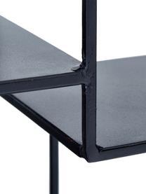 Kleines Deko-Wandregal Expo aus Metall, Metall, pulverbeschichtet, Schwarz, Ø 61 x T 16 cm