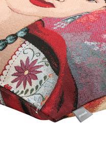 Federa arredo Frida Kahlo, 50% cotone, 45% poliestere, 5% poliacrilonitrile, Multicolore, Larg. 45 x Lung. 45 cm