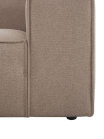 Modulaire chaise longue Lennon in bruin, Bekleding: 100% polyester De slijtva, Frame: massief grenenhout, multi, Poten: kunststof De poten bevind, Geweven stof bruin, 269 x 119 cm