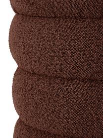 Panca imbottita in tessuto bouclé marrone Alto, Rivestimento: 100% poliestere (pellicci, Struttura: legno di pino massiccio, , Bouclé marrone, Larg. 110 x Alt. 47 cm