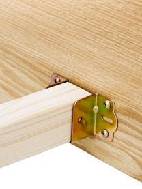 Łóżko z drewna z zagłówkiem Tammy, Stelaż: płyta pilśniowa średniej , Nogi: lite drewno dębowe, Drewno dębowe, S 180 x D 200 cm