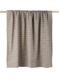 Kuscheldecke Nova Stripes im Liniendesign, 85%Baumwolle, 8%Viskose, 7%Polyacryl, Rauchgrau, Weiß, 145 x 220 cm