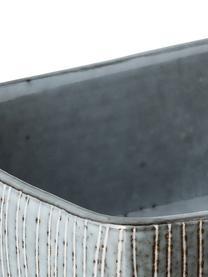 Handgemachte Butterdose Nordic Sea aus Steingut, Steingut, Grau- und Blautöne, 15 x 6 cm