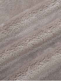 Puszysty koc z pomponami Bomla, 100% poliester, Taupe, S 130 x D 170 cm