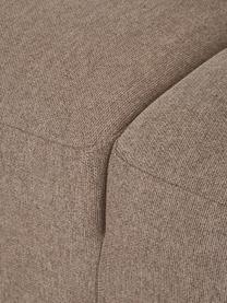 Hoekbank Melva (4-zits) in taupe, Bekleding: 100% polyester De bekledi, Frame: massief grenenhout, FSC-g, Poten: kunststof, Geweven stof taupe, B 319 x D 196 cm