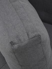 Canapé convertible gris foncé Edward, Tissu gris foncé