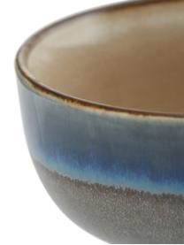 Handgemachte Schälchen 70's im Retro Style, 4er-Set, Keramik, Mehrfarbig, Ø 11 x H 5 cm