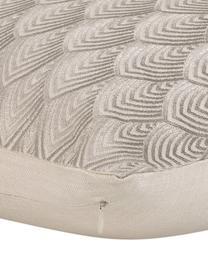 Federa arredo  ricamata Giselle, 100% cotone, Grigio, Larg. 45 x Lung. 45 cm