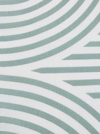 Pościel z bawełny Arcs, Zielony, biały, 240 x 220 cm + 2 poduszka 80 x 80 cm