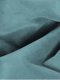 Samt-Sofa Moby (2-Sitzer) in Türkis mit Metall-Füßen, Bezug: Samt (Hochwertiger Polyes, Gestell: Massives Kiefernholz, Füße: Metall, pulverbeschichtet, Samt Türkis, B 170 x T 95 cm