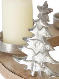 Bougeoir de Noël Janni, Couleur argentée, beige