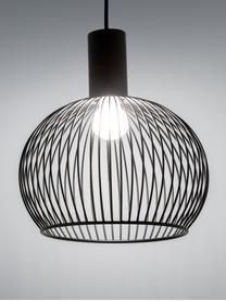 Pendelleuchte Aver aus Metall, Lampenschirm: Stahl, lackiert, Baldachin: Kunststoff, Schwarz, Ø 40 x H 45 cm