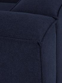 Modulares Ecksofa Lennon in Blau, Bezug: 100% Polyester Der strapa, Gestell: Massives Kiefernholz, Spe, Füße: Kunststoff Die Füße befin, Webstoff Blau, B 238 x T 180 cm