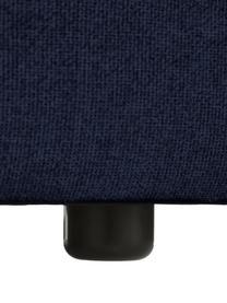 Divano angolare componibile in tessuto blu Lennon, Rivestimento: 100% poliestere Con 115.0, Struttura: legno di pino massiccio, , Piedini: plastica I piedini si tro, Tessuto blu, Larg. 238 x Prof. 180 cm