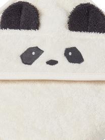 Ręcznik dziecięcy Augusta Panda, 100% bawełna organiczna, Biały, czarny, S 70 x D 70 cm