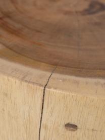 Tavolino in legno di suar Alba, Legno di suar, Marrone, beige, Ø 40 x Alt. 45 cm