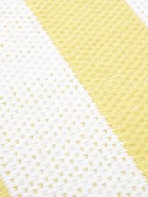Gestreifter In- & Outdoor-Teppich Axa in Gelb/Weiß, 86% Polypropylen, 14% Polyester, Cremeweiß, Gelb, B 200 x L 290 cm (Größe L)