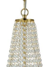 Großer Kronleuchter Gränsö in Gold, Baldachin: Metall, vermessingt, Messing, Transparent, Ø 40 x H 59 cm