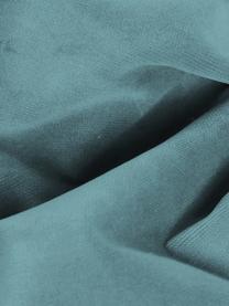 Samt-Ecksofa Moby in Türkis mit Metall-Füßen, Bezug: Samt (Hochwertiger Polyes, Gestell: Massives Kiefernholz, Füße: Metall, pulverbeschichtet, Samt Türkis, B 280 x T 160 cm