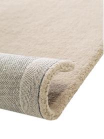 Handgetufteter Wollteppich Bent mit geometrischem Muster, Flor: 100% Wolle, Beige, Creme, B 200 x L 300 cm (Größe L)