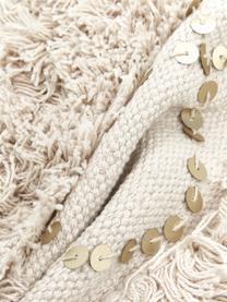 Kissenhülle Frederieke mit dekorativer Verzierung, 100% Baumwolle, Beige, 45 x 45 cm