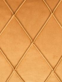 Federa arredo in velluto con motivo a rombi Nobless, 100% velluto di poliestere, Giallo, Larg. 50 x Lung. 50 cm