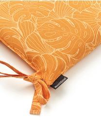 Sitzkissen Palm in Gelb mit Palmenprint, 50% Baumwolle, 45% Polyester, 5% andere Fasern, Gelb, 45 x 45 cm